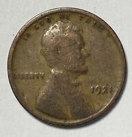 1921 LINCOLN - WHEAT EARS REVERSE 1 CENT CIRCULATED COIN  2941