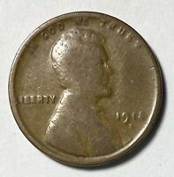 1918 D LINCOLN - WHEAT EARS REVERSE 1 CENT CIRCULATED COIN  1343
