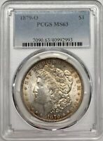 1879 O MORGAN DOLLAR PCGS MINT STATE 63 LIGHT TONED SILVER REGISTRY COIN $1 NEW ORLEANS