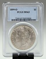 1899-O $1 SILVER MORGAN DOLLAR GRADED BY PCGS AS MINT STATE 63
