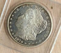 1878 S MORGAN SILVER DOLLAR PROOF-LIKE FIELDS BEAUTIFUL TONING