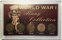 WWI LINCOLN WHEAT CENT COLLECTION WORLD WAR I 1914-1918  USA