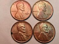 LINCOLN WHEAT CENTS  1933-D, 1934-D, 1935-D, AND 1935-S. LOT OF 4 TOTAL.