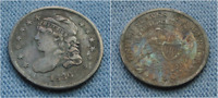 1836 CAPPED BUST HALF DIME - TONED W/ GREAT DETAILS 5C