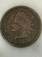 1908 INDIAN HEAD CENT - 110 YEAR OLD PENNY -US COPPER TYPE - ACTUAL SHOWN 18E