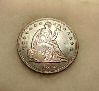 1842 LIBERTY SEATED DOLLAR -  BETTER DATE - SHARP LOOKING COIN - FREE SHIP & INS