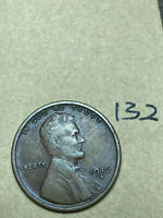 1916-S LINCOLN WHEAT CENT, LOW MINTAGE, BETTER CONDITION COIN, 132