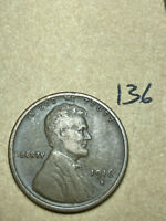 1916-S LINCOLN WHEAT CENT, LOW MINTAGE, BETTER CONDITION COIN, 136