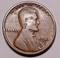 1924 S LINCOLN WHEAT CENT PENNY -   GOITER NECK ERROR VARIETY  -
