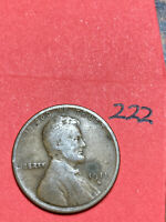 1911-D LINCOLN WHEAT CENT,  DATE, 222