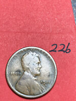 1911-D LINCOLN WHEAT CENT,  DATE, 226