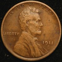 1911 D LINCOLN CENT  RPM 005  LY   NICE LOOKING COIN