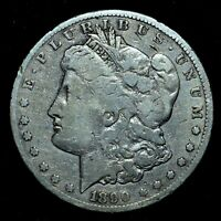 1890-CC $1 MORGAN SILVER DOLLAR  VG  GOOD DETAILS   CLEANED TRUSTED