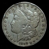 1893-O $1 MORGAN SILVER DOLLAR  FINE F DETAILS   NOW CLEANED TRUSTED