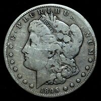 1895-S $1 MORGAN SILVER DOLLAR  FINE F DETAILS   NOW  DATE TRUSTED