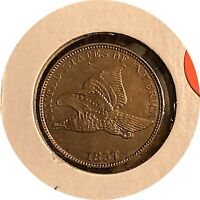 1857 FLYING EAGLE 1 CENT GEM UNCIRCULATED