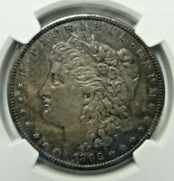 1892-CC $1 NGC AU DETAILS OBV CLEANED MORGAN SILVER DOLLAR HIGHER GRADE G213