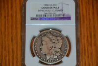 1880 CC GOOD DETAILS IMPROPERLY CLEANED MORGAN SILVER DOLLAR