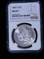 1885-O MORGAN SILVER DOLLAR - NGC MINT STATE 65 W/ BELLY BUTTON VAM24