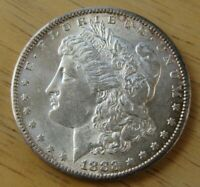 1883-S MORGAN SILVER DOLLAR UNCIRCULATED MOSTLY WHITE