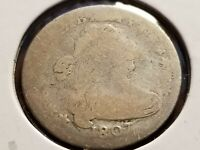 1807 DRAPED BUST SILVER DIME,  TOUGH DATE     INV01     D185