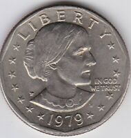 1979 P SUSAN B. ANTHONY DOLLAR COIN ALMOST UNCIRCULATED