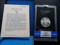 1881-CC MINT STATE 64 GSA HOARD MORGAN SILVER DOLLAR NGC CERTIFIED WITH BOX/COA - WHITE