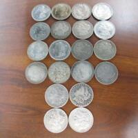 20 PC LOT MORGAN SILVER ONE DOLLAR $1 COINS OLD USED CIRCULA