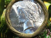ROLL OF 20 SILVER PEACE DOLLARS   20 COINS   SKUMD169