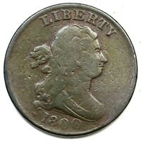 1800 C 1 DRAPED BUST HALF CENT COIN 1/2C