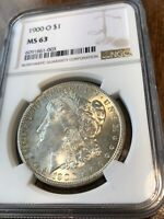1900-O NGC MINT STATE 63 MORGAN SILVER DOLLAR CERTIFIED