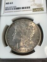 1900-P 1900 NGC MINT STATE 61  MORGAN SILVER DOLLAR CERTIFIED