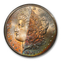 1881-S $1 MORGAN DOLLAR PCGS MINT STATE 68 CAC 2842-1
