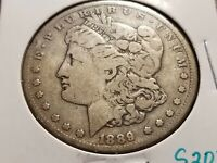 1889 CC MORGAN SILVER DOLLAR, KEY DATE CARSON CITY    INV02     S203