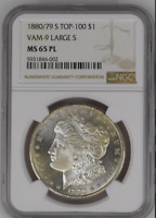 ONLY 1 BETTER 1880/79 S TOP-100 VAM-9 LARGE S $1 MINT STATE 65 PL