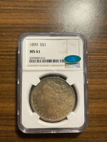1899-P MORGAN SILVER DOLLAR $1 NGC MINT STATE 61 CAC  KEY DATE