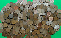 BAG OF 600  OLD CANADA 1 CENT COINS DATE RANGE 1937 1981 BUL