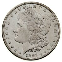 1891-S $1 SILVER MORGAN DOLLAR IN CHOICE BU CONDITION, EXCELLENT EYE APPEAL