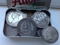 OLD BRITISH COINS JOB LOT / TIN OF RANDOM COINS FROM OLD COL