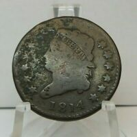 1814 US ONE CENT - 1C UNITED STATES CLASSIC HEAD LARGE CENT - H1622
