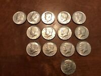 40  SILVER KENNEDY HALF DOLLARS QTY OF 14 COINS
