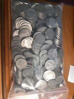 600 BUFFALO NICKLELS DATELESS MOSTLY WHITE SOME DATES FAINTLY VISIBLE & MINTMARK