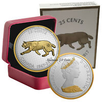 2017 CANADA BIG COIN 25 CENTS SERIES RCM 5OZ FINE SILVER & GOLD PLATED COIN