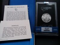 1880-CC MINT STATE 64 GSA HOARD MORGAN SILVER DOLLAR NGC CERTIFIED WITH BOX/COA - WHITE