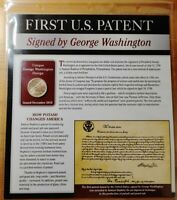 2018 FIRST PATENT WASHINGTON DOLLAR COIN STAMPS POSTAL COMMEMORATIVE PAGE