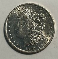 1890-S MORGAN SILVER DOLLAR  AU 12950