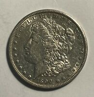 1890-S MORGAN SILVER DOLLAR AU SCRUFFY 14019