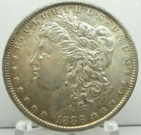 1888-P MORGAN DOLLAR MINT STATE 90 SILVER $1 US COIN COLLECTIBLE  H1902