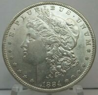 1884-P MORGAN DOLLAR MINT STATE 90 SILVER $1 US COIN COLLECTIBLE  H1774