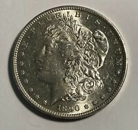 1890-S MORGAN SILVER DOLLAR 12992 CHOICE AU.  LUSTER.